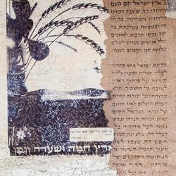 Scroll Art on Fabric