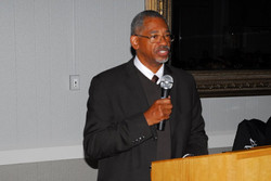 Pastor Young at the Church Anniversary Celebration