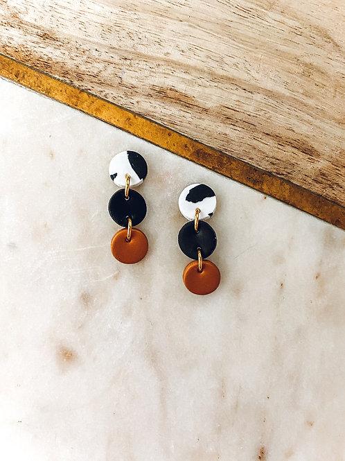 Leda | Cow Print, Black and Copper