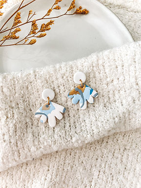 Amie | Blue, Gray, Yellow and White Floral Print