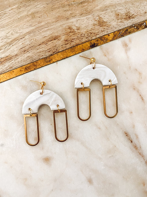 Ramona | White, Taupe and Gold