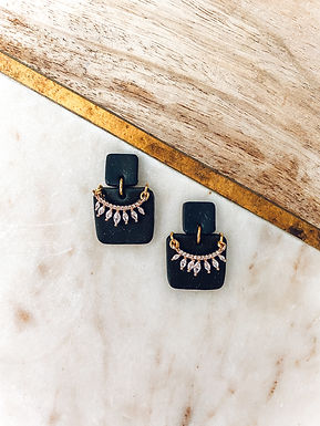 Ruth | Black with Gold Charms