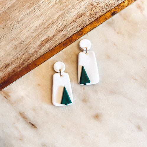 Lila | White with Green Trees