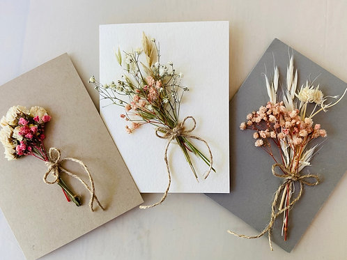 Card with Dried Flowers