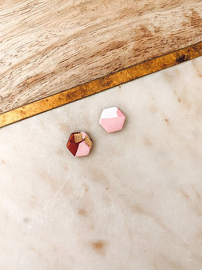 Atlas Hexagon | | Pink, Purple, Red, Gold, and White