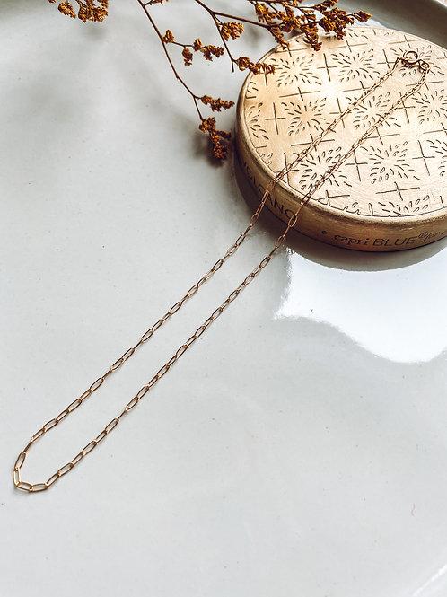 Dana   14k Gold Paper Clip Chain Necklace