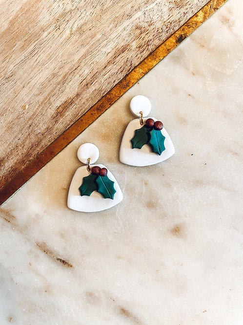 Ella | White with Christmas Holly