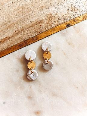 Leda | Taupe, White and Gold