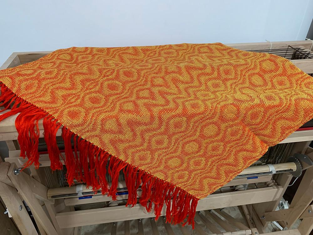 Small Lava Blanket - flat fringe
