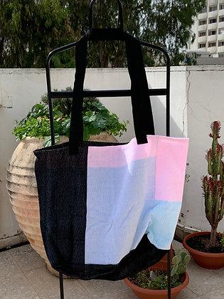 Pastel & Black XL Shopping Bag