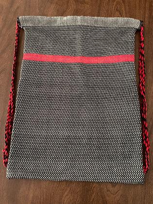 Black & White Drawstring Backpack
