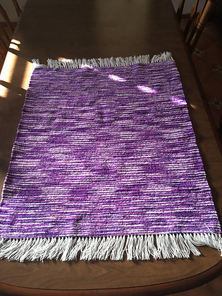 Purple & White Baby/Lap Blanket