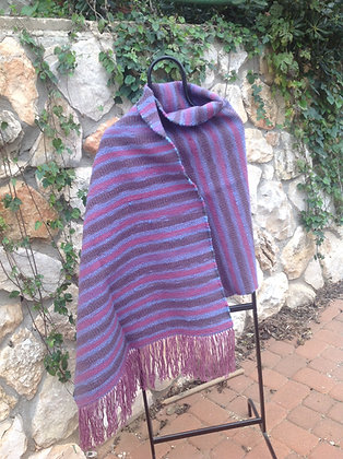 Mauve, Blue and Grey Shawl