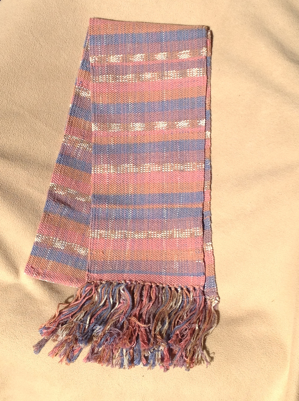 First scarf I ever wove.