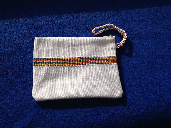 Rainbow Striped Wristlet