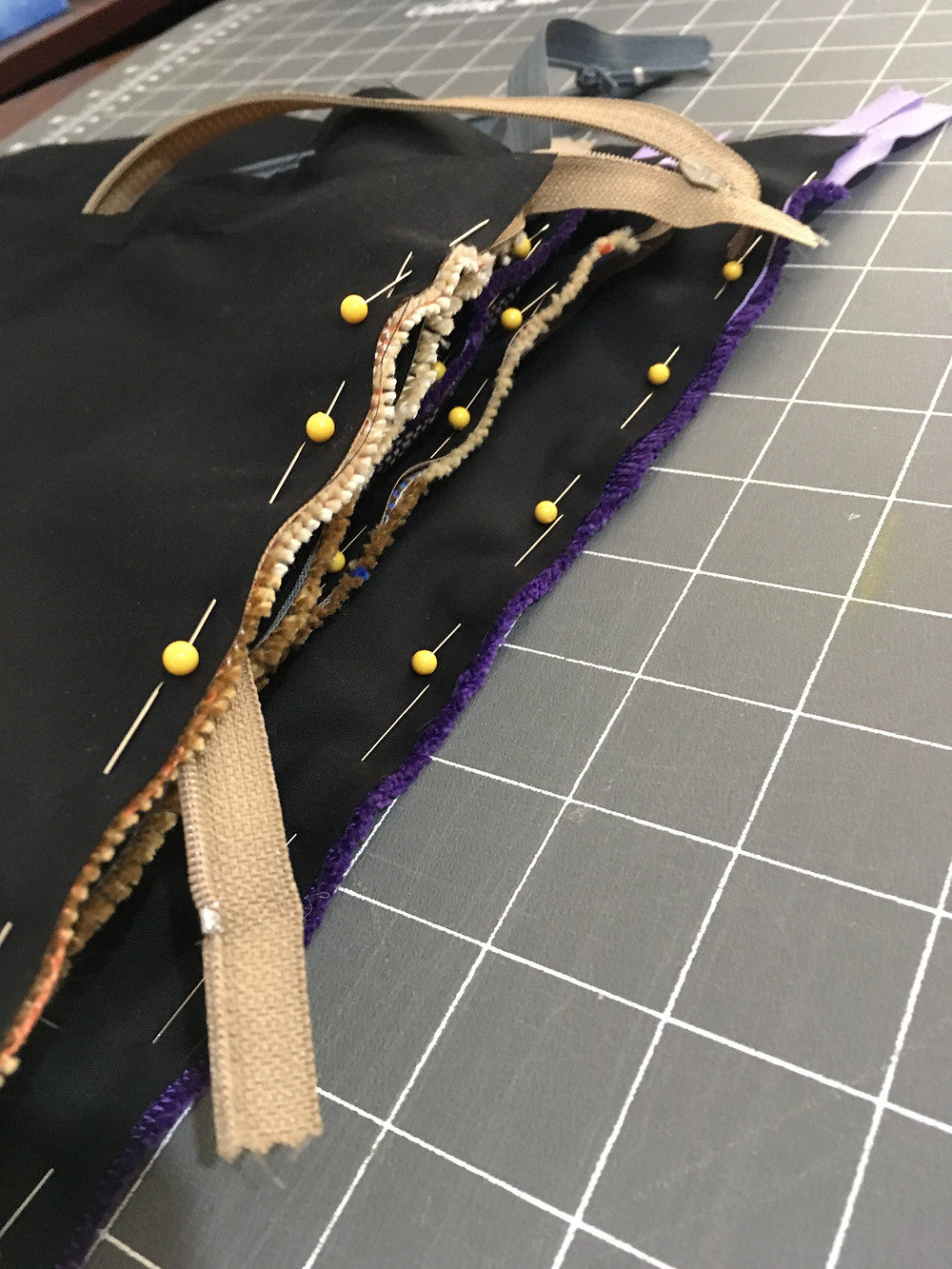 ready to sew the second side to the zipper