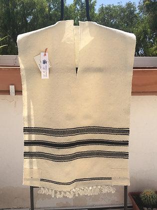 Tallit Katan #6 - Thick Wool (long)