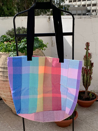 Entirely Pastel Rainbows XL Shopping Bag