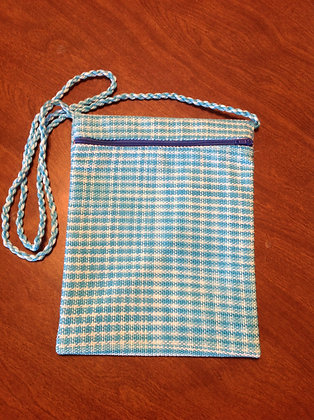 Blue and White Pocket Purse