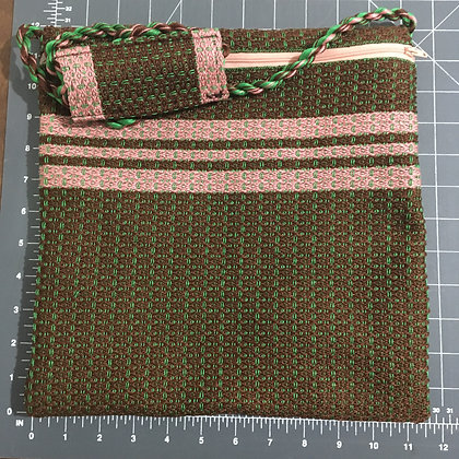 Shabbat Purse - Brown Design w/ Pink Accents