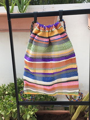 Multi-Colored Drawstring Backpack