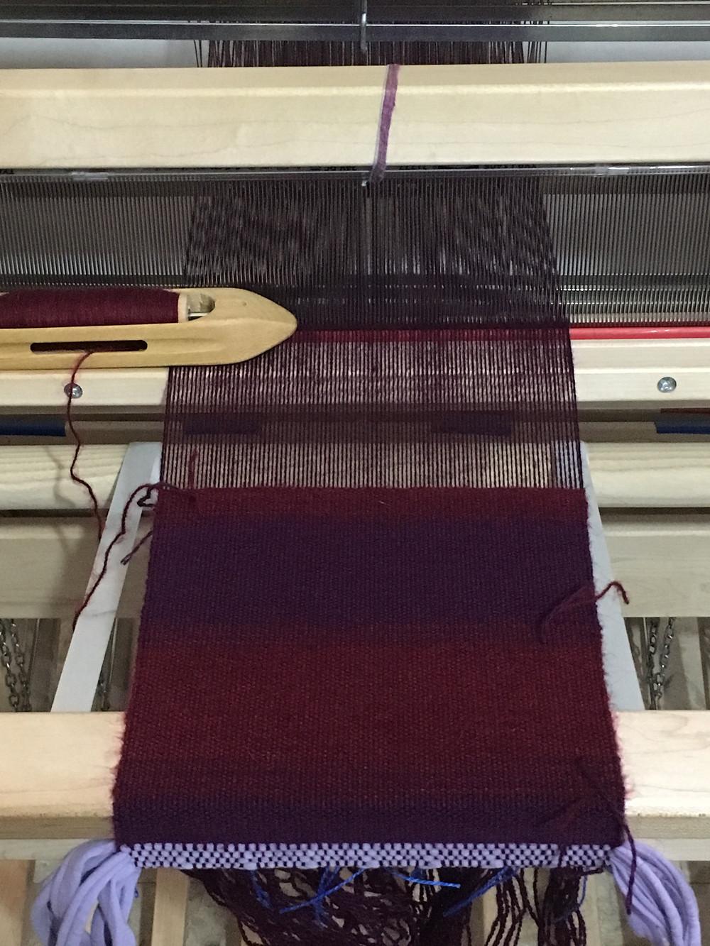 Mohair/Acrylic yarn in Deep Purple and Maroon