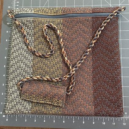Shabbat Purse - Grey Design on Browns