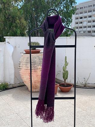 Fading Grey & Purple Scarf