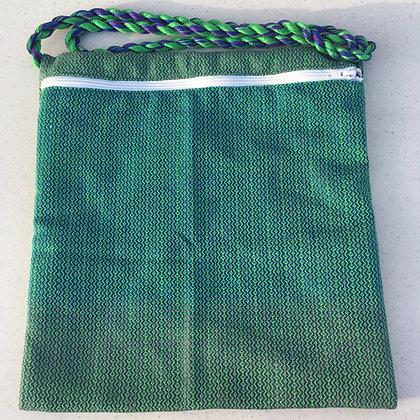Green Diamonds Shabbat Purse