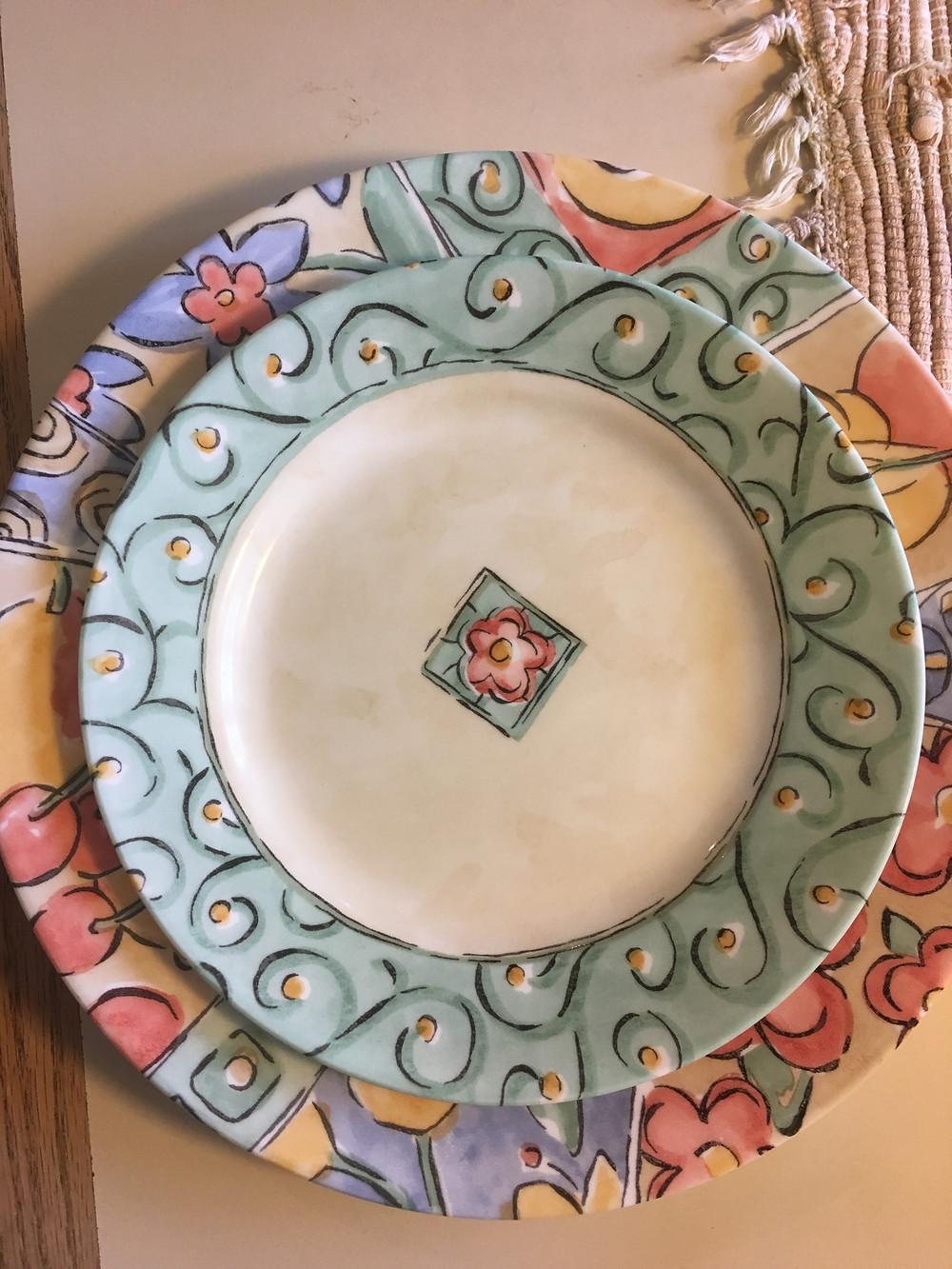 Client's plates.