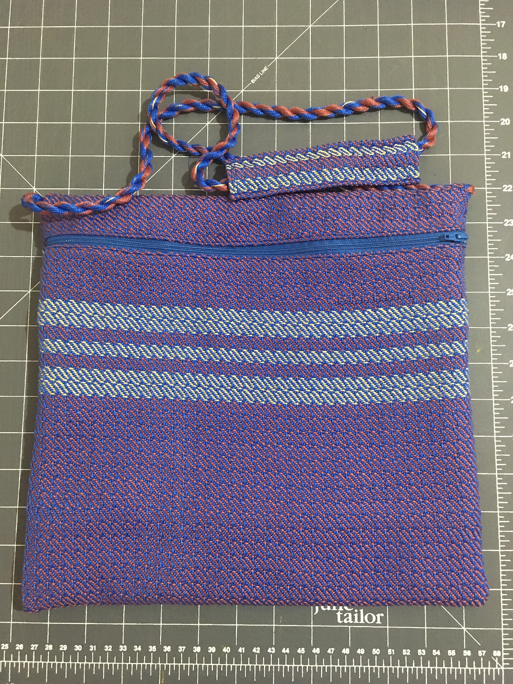 Shabbat Purse in Mauve with Gold Accents