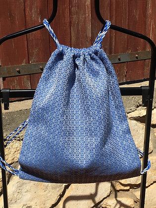 Blue Hearts  Drawstring Backpack