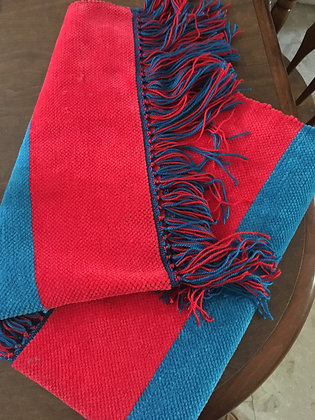 Red & Blue Stripes Baby/Lap Blanket