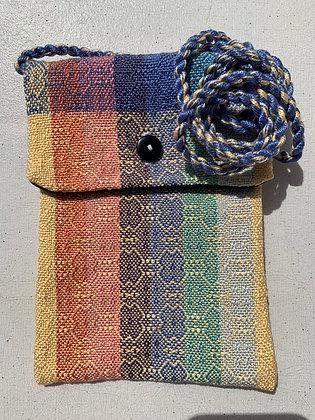 Yellow and Blue Design Mini-Purse