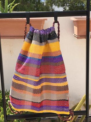 Dark Stripes Multi-Colored Drawstring Backpack