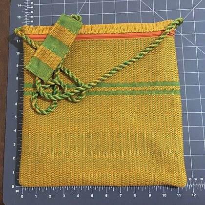 Orange & Green Shabbat Purse