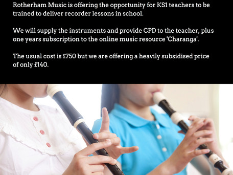 Music in the KS1 Classroom - Subsidised Recorder CPD