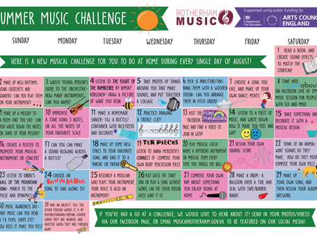 Take our Summer Music Challenge! Starts Today!