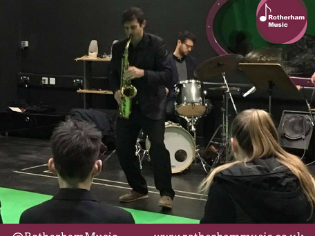 Jazz Workshop Inspires Rotherham Music Students