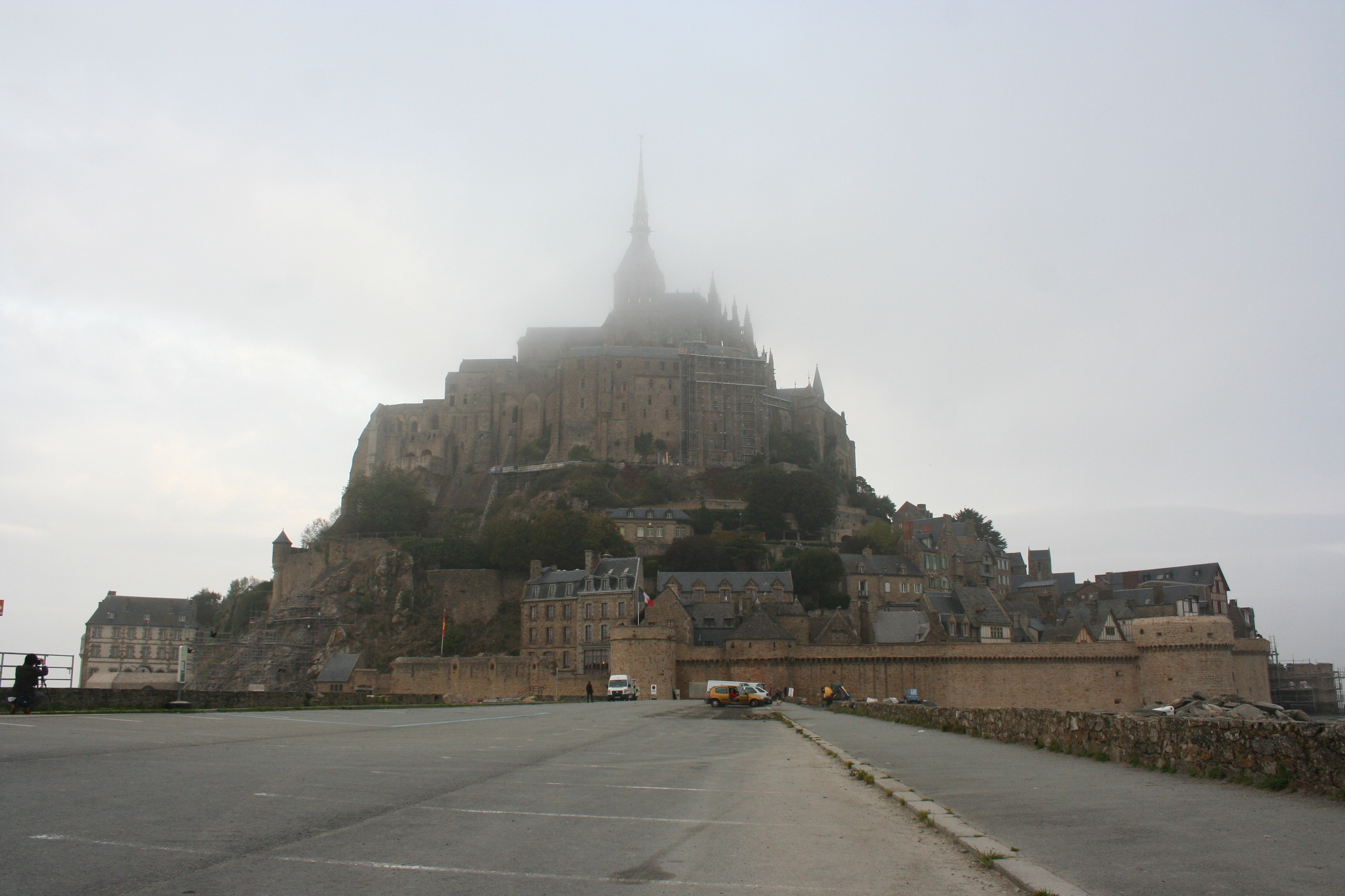 Mont St Michel in Fog