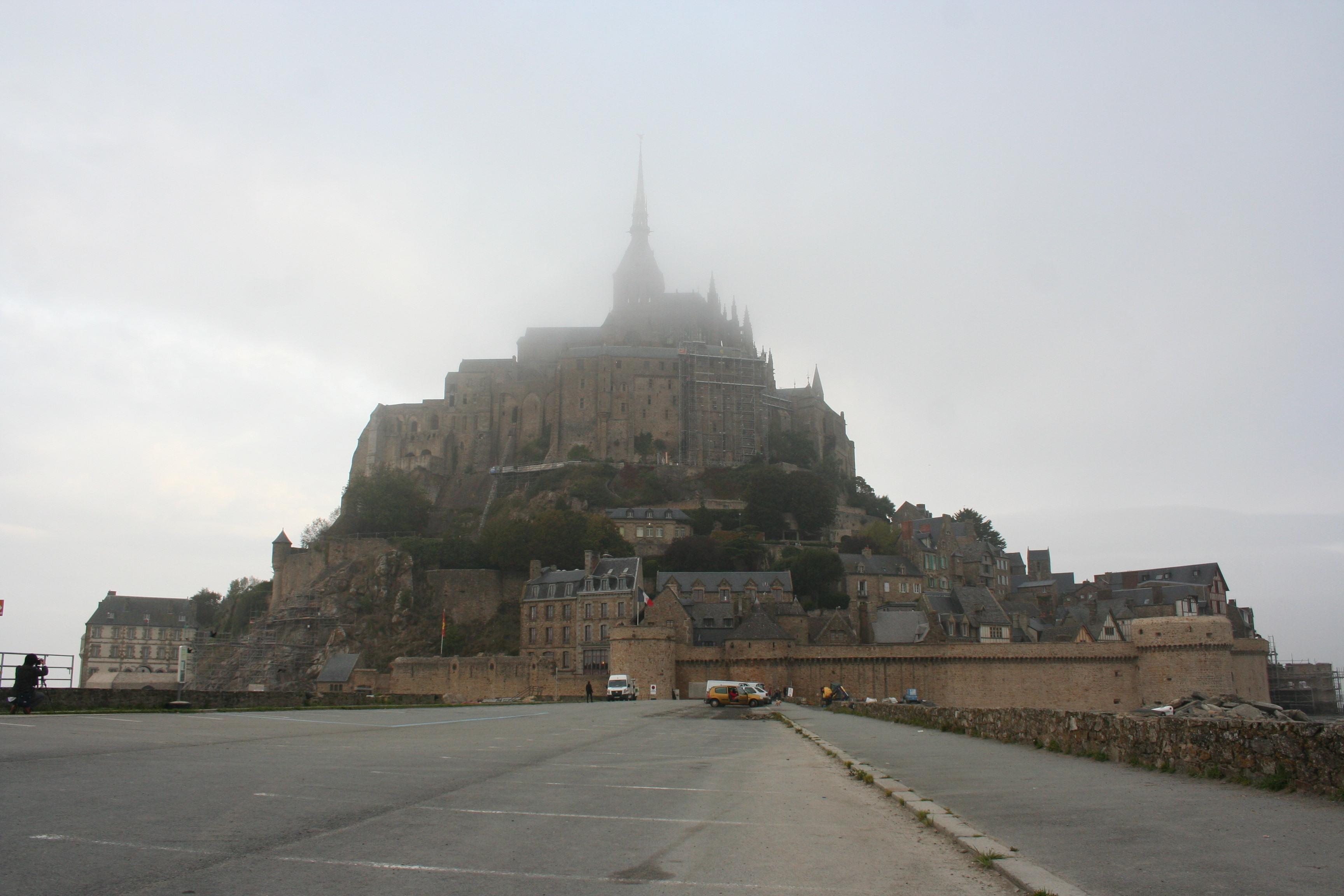 Mont St Michel in Fog