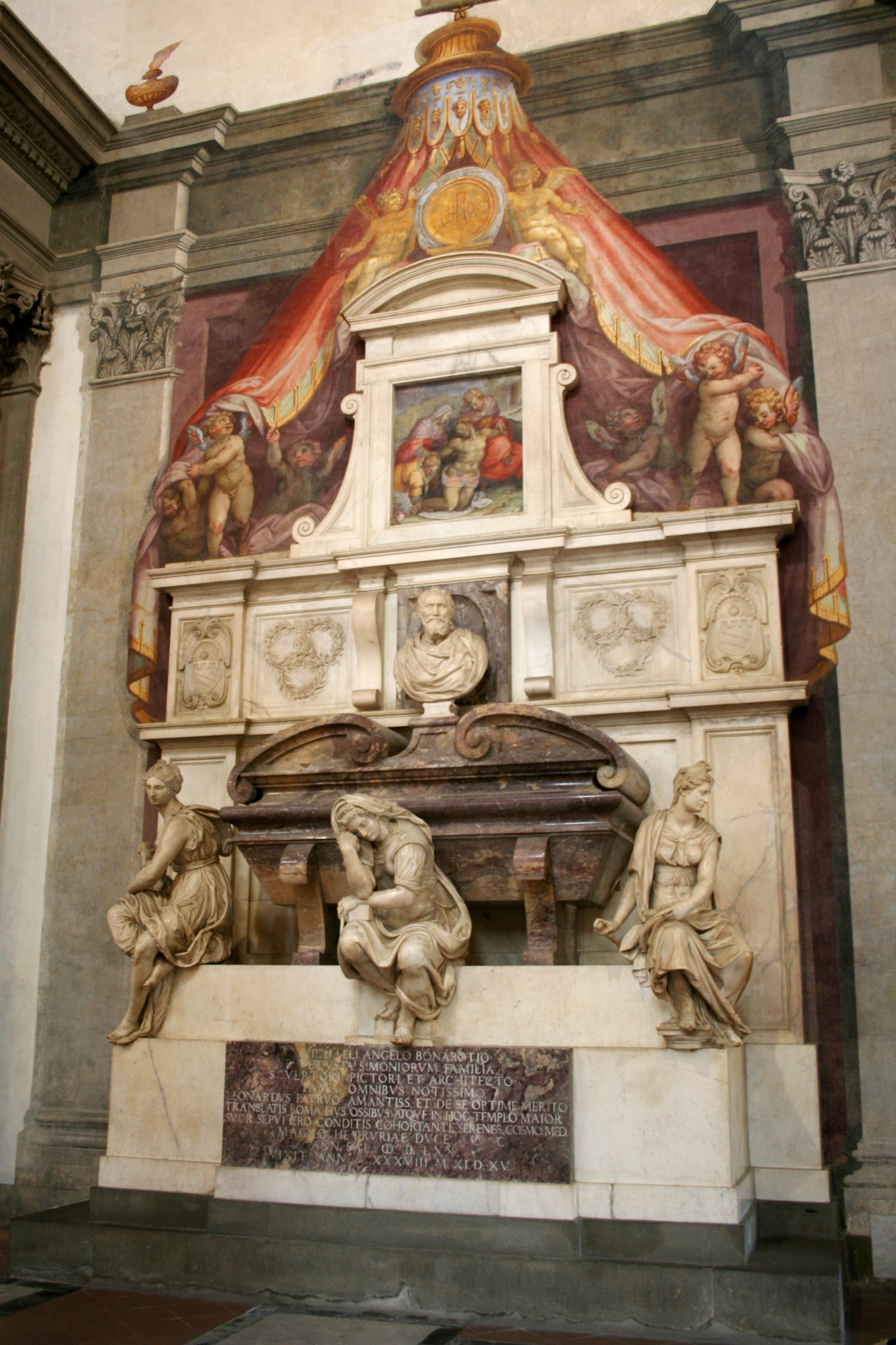 Michelangelo's Tomb in Santa Croce