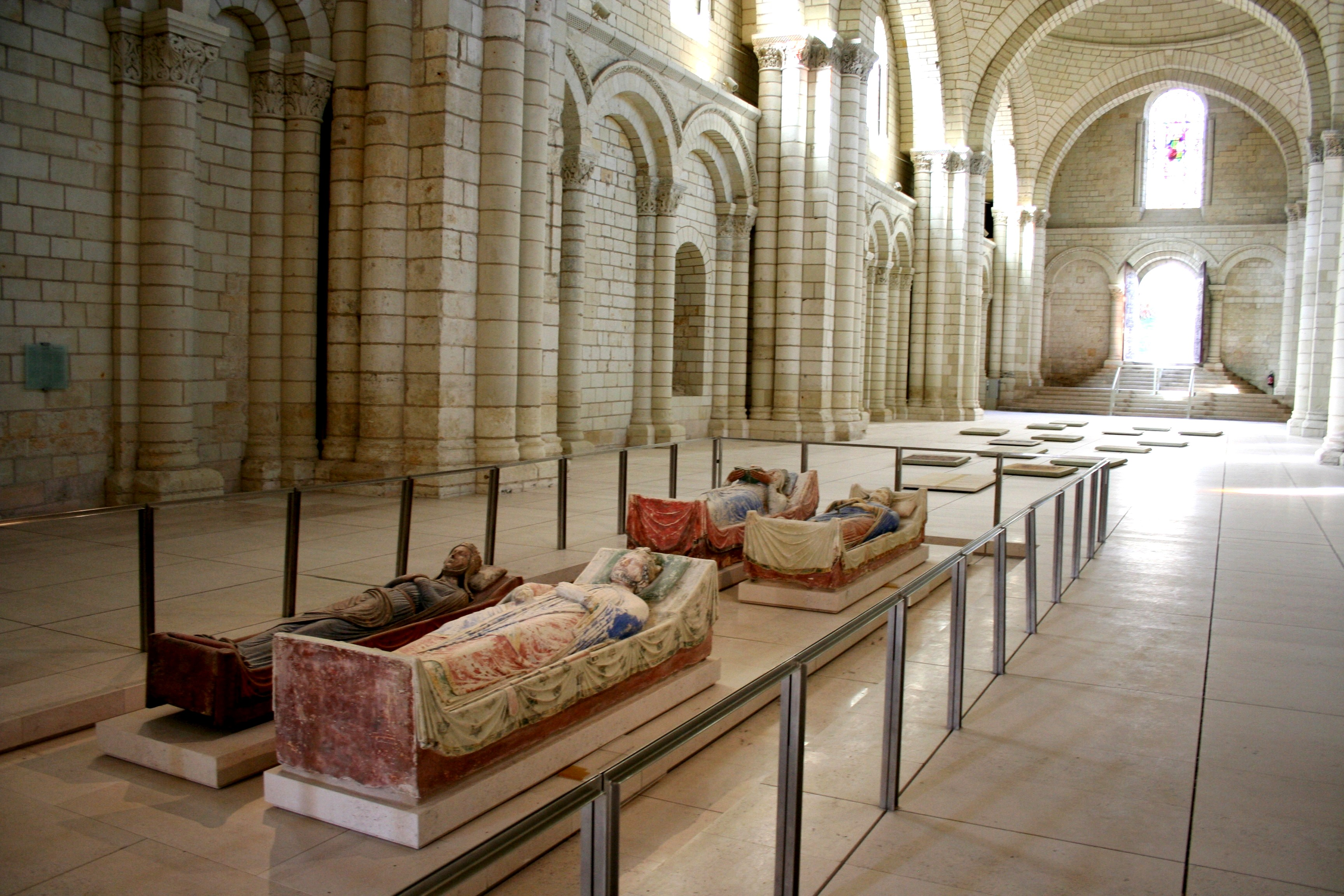 Plantagenet Headstones in Fontevraud