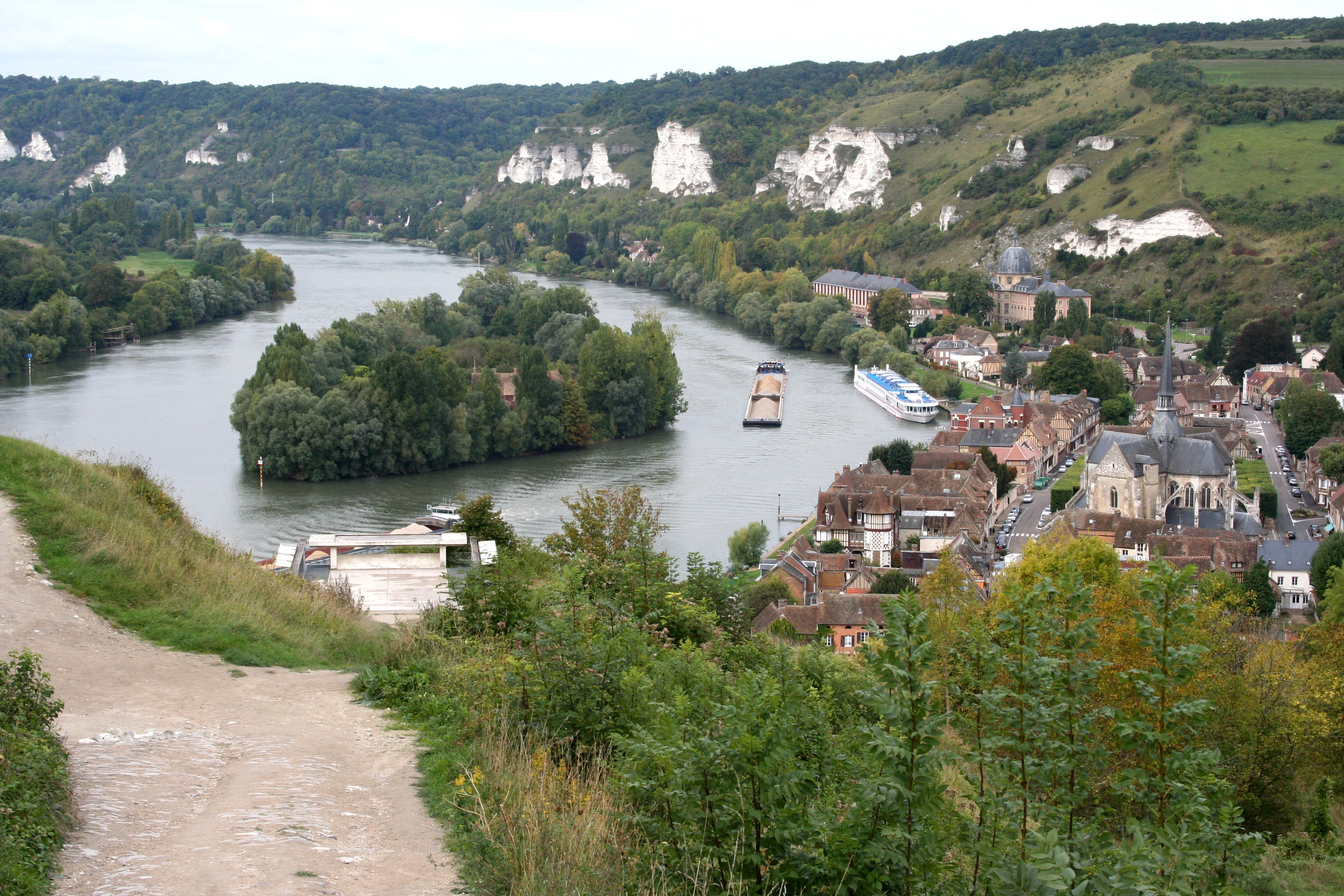 Seine River from Chateau Gaillard