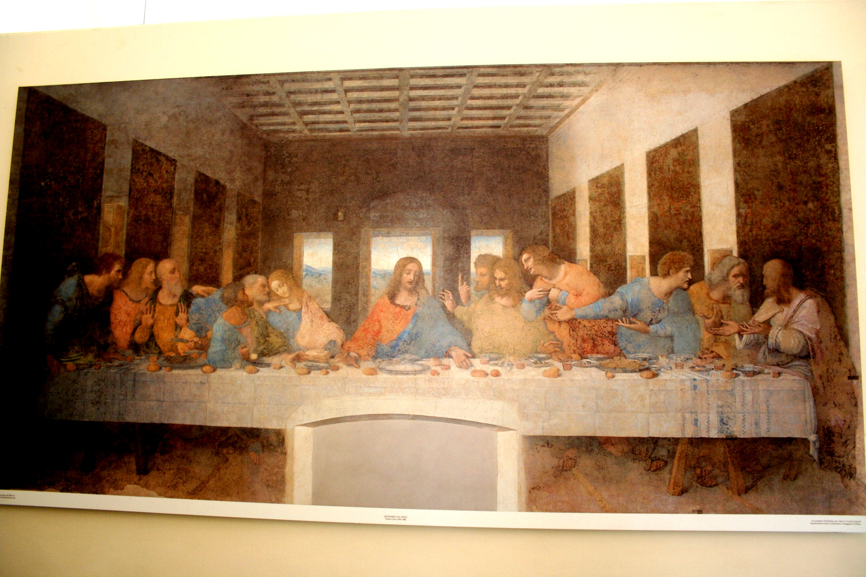 Print of Da Vinci's Last Supper