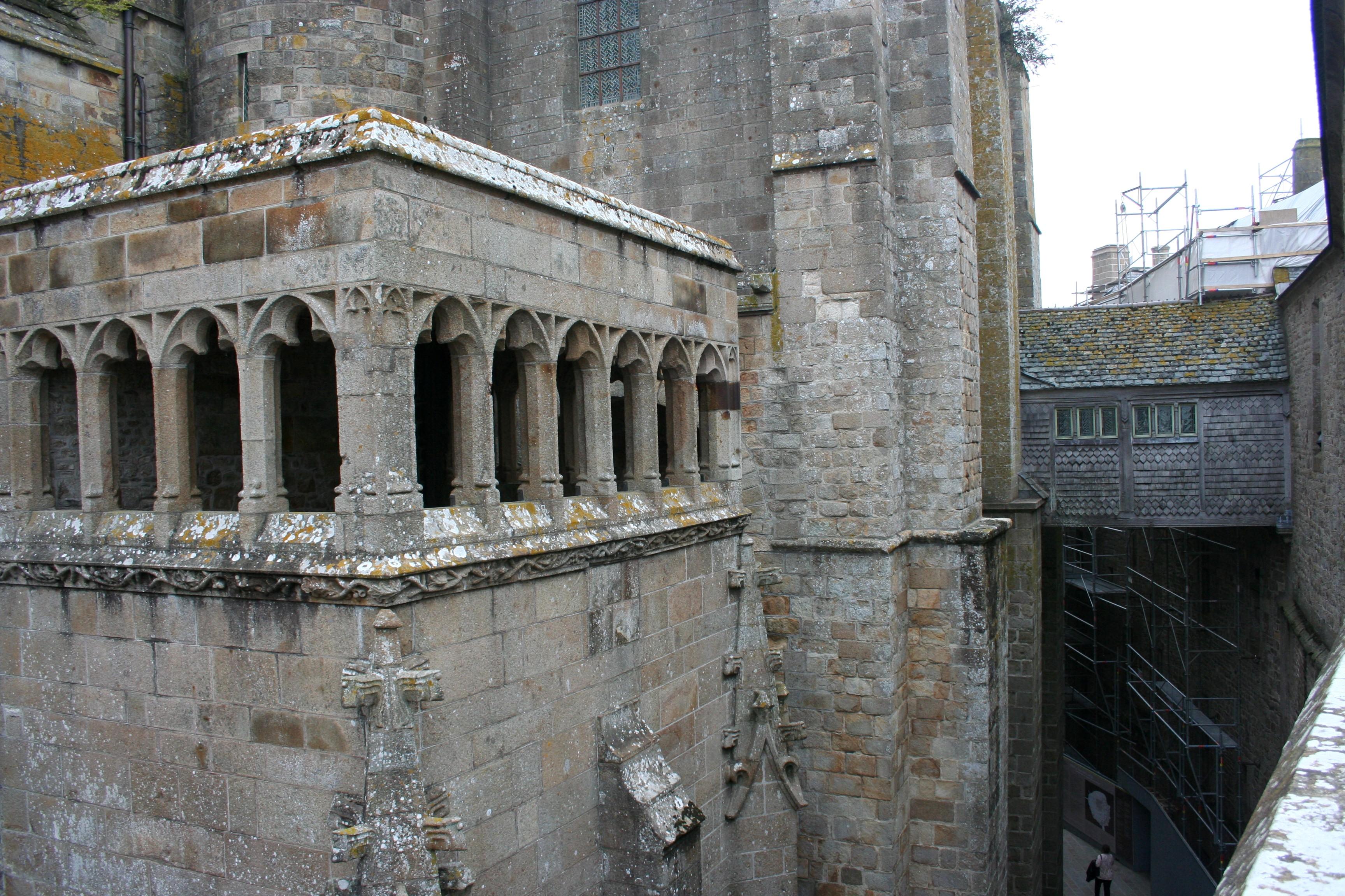 Mont St Michel Abbey Exterior