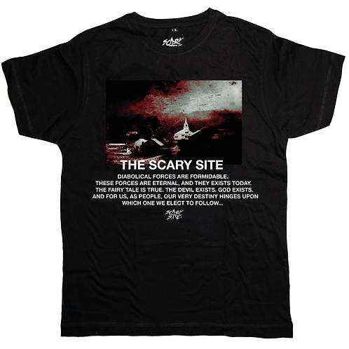 "Scary Site ""Diabolical Forces"" Tee Black 