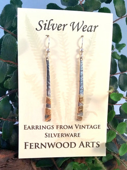 Earrings from Fork Tines with Brass