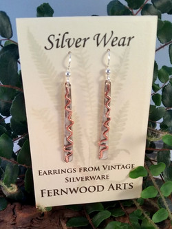 Fork Tine Earrings with Copper