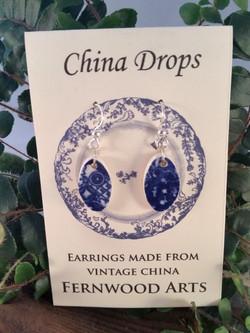 Blue Willow China Drops